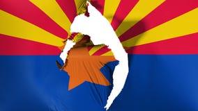 Bandera dañada del estado de Arizona libre illustration