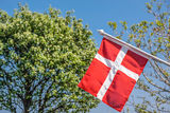 Bandera danesa Foto de archivo