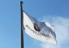 Bandera de Abierto de Australia en Billie Jean King National Tennis Center durante el US Open 2013 Imagen de archivo