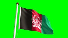 Bandera de Afganistán stock de ilustración