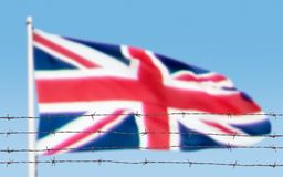 Bandera de alambres fotos de archivo