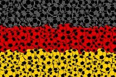 Bandera de Alemania, consistiendo en bolas del fútbol libre illustration