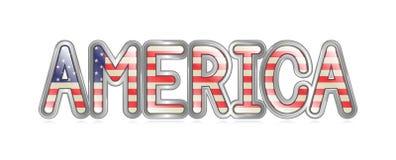 Bandera de América ilustración del vector