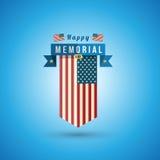 Bandera de América al Memorial Day Fotografía de archivo