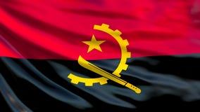 Bandera de Angola Bandera que agita del ejemplo de Angola 3d