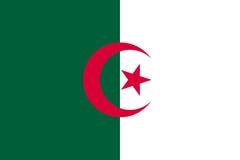 Bandera de Argelia plana ilustración del vector