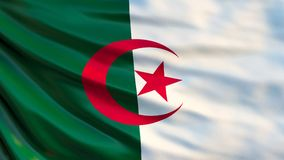 Bandera de Argelia Bandera que agita del ejemplo de Argelia 3d