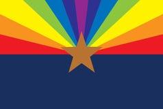 Bandera de Arizona de los derechos de los homosexuales Foto de archivo