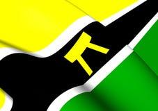 Bandera de Ashanti People y del país Ashanti, Asanteman Foto de archivo