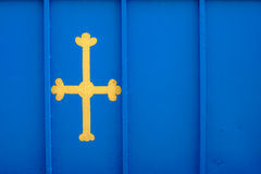 Bandera de Asturias, España Foto de archivo