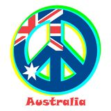 Bandera de Australia como muestra del pacifismo stock de ilustración