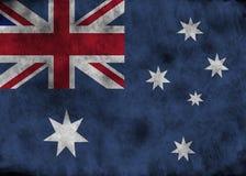 Bandera de Australia del Grunge stock de ilustración
