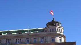 Bandera de Austria en el viento almacen de metraje de vídeo