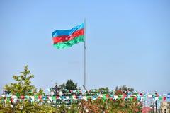 Bandera de Azerbaijan Foto de archivo