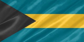 Bandera de Bahamas foto de archivo
