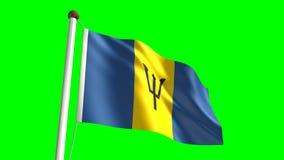 Bandera de Barbados stock de ilustración