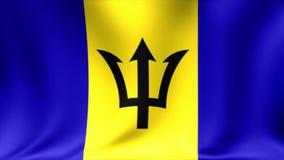 Bandera de Barbados Animación de colocación inconsútil del fondo alto vídeo de la definición 4K stock de ilustración