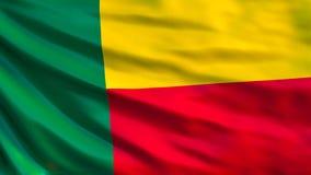 Bandera de Benin Bandera que agita del ejemplo de Benin 3d