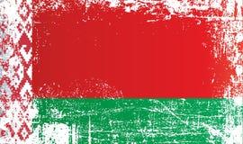 Bandera de Bielorrusia, la República de Belarús, puntos sucios arrugados libre illustration