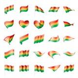 Bandera de Bolivia, ejemplo del vector Fotos de archivo