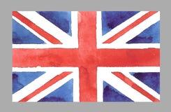 Bandera de británicos de la acuarela Vector EPS 10 Imagen de archivo