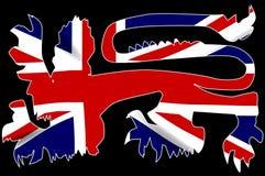 Bandera de británicos Lion Silhouette On Union Jack libre illustration