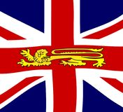Bandera de británicos Lion On The Union Jack stock de ilustración