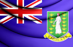 Bandera de British Virgin Islands Imagenes de archivo