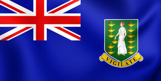 Bandera de British Virgin Islands Imagen de archivo libre de regalías
