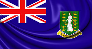 Bandera de British Virgin Islands Fotos de archivo libres de regalías