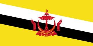 Bandera de Brunei Fotografía de archivo libre de regalías