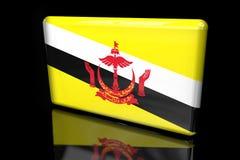 Bandera de Brunei 3D volumétrico ilustración del vector