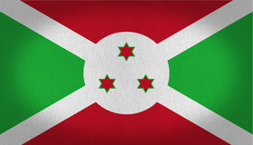 Bandera de Burundi ilustración del vector