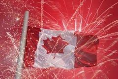 Bandera de Canadá Imágenes de archivo libres de regalías