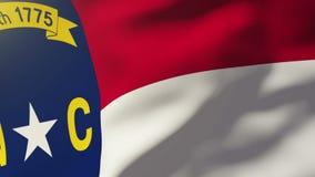 Bandera de Carolina del Norte que agita en el viento colocación libre illustration