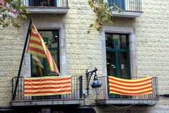 Bandera de Catalon Imágenes de archivo libres de regalías
