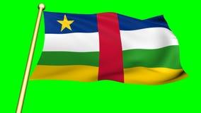 Bandera de centroafricano, África almacen de video
