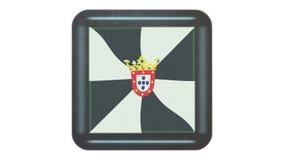 Bandera de Ceuta que agita en el viento Icono en el marco r almacen de video