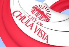 Bandera de Chula Vista, los E.E.U.U. ilustración del vector