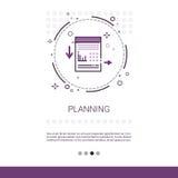 Bandera de comercialización del web de la estrategia empresarial de proceso del planeamiento con el espacio de la copia Fotos de archivo