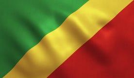 Bandera de Congo ilustración del vector