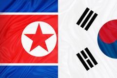 Bandera de Corea del Norte del sur y  libre illustration