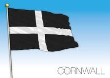 Bandera de Cornualles, Reino Unido Imagen de archivo libre de regalías