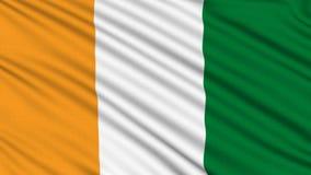 Bandera de Costa de Marfil. ilustración del vector