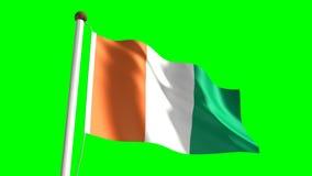 Bandera de Costa de Marfil stock de ilustración