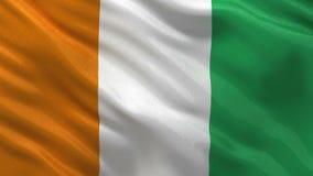 Bandera de Costa de Marfil - lazo inconsútil ilustración del vector