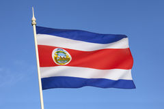 Bandera de Costa Rica - America Central Imágenes de archivo libres de regalías