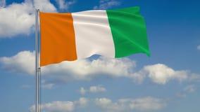 Bandera de Cote d Ivoire - Costa de Marfil stock de ilustración