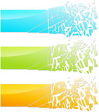 Bandera de cristal abstracta