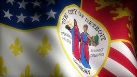 Bandera de Detroit Michigan stock de ilustración